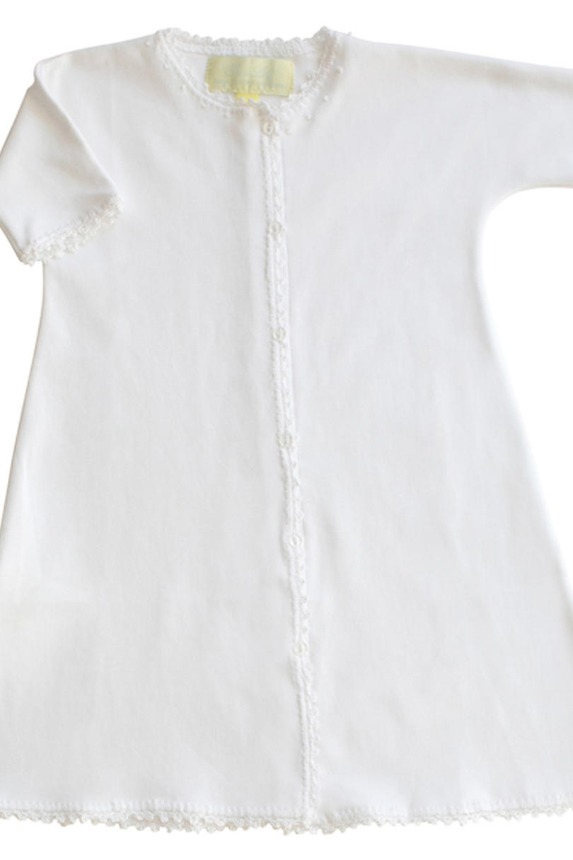 White Jersey Day Gown