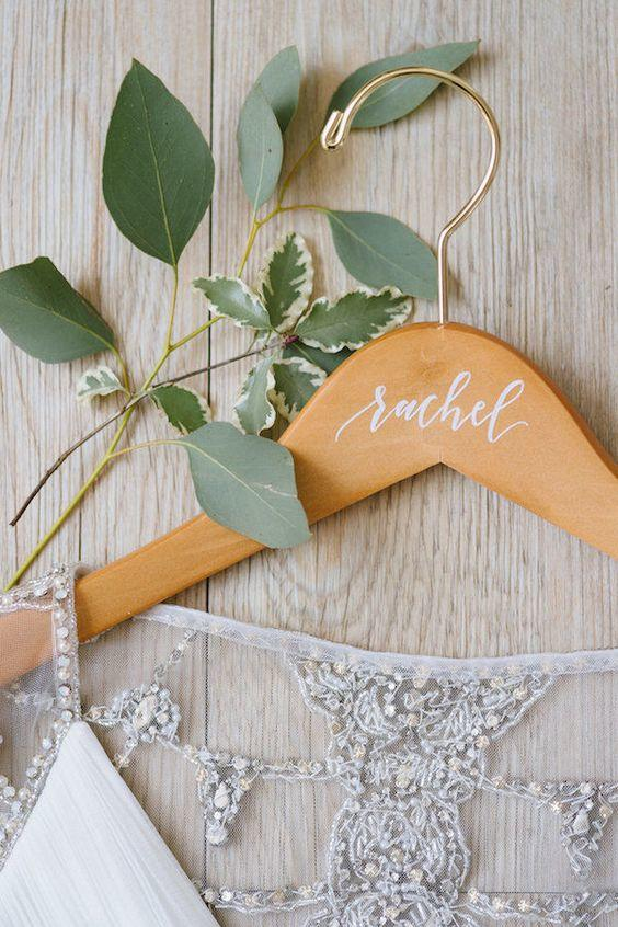 Hand-Lettered: Personalized Coat Hanger