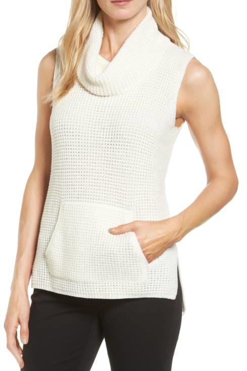 White Sleeveless Sweater