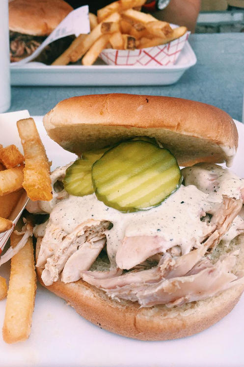 Alabama: BBQ Chicken Sandwich with White Sauce