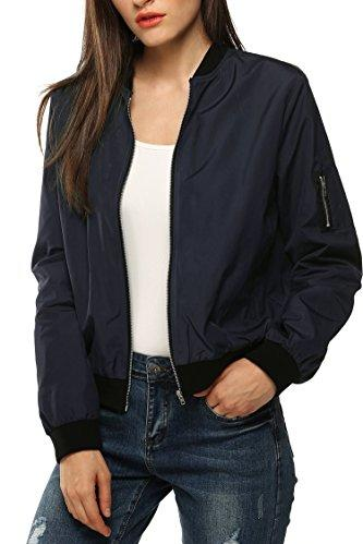 Zeagoo Women's Short Bomber Jacket