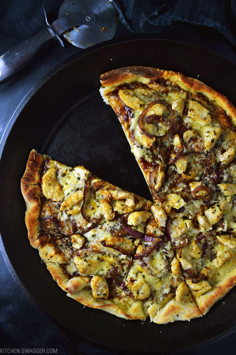 Barbecue Chicken Skillet Pizza