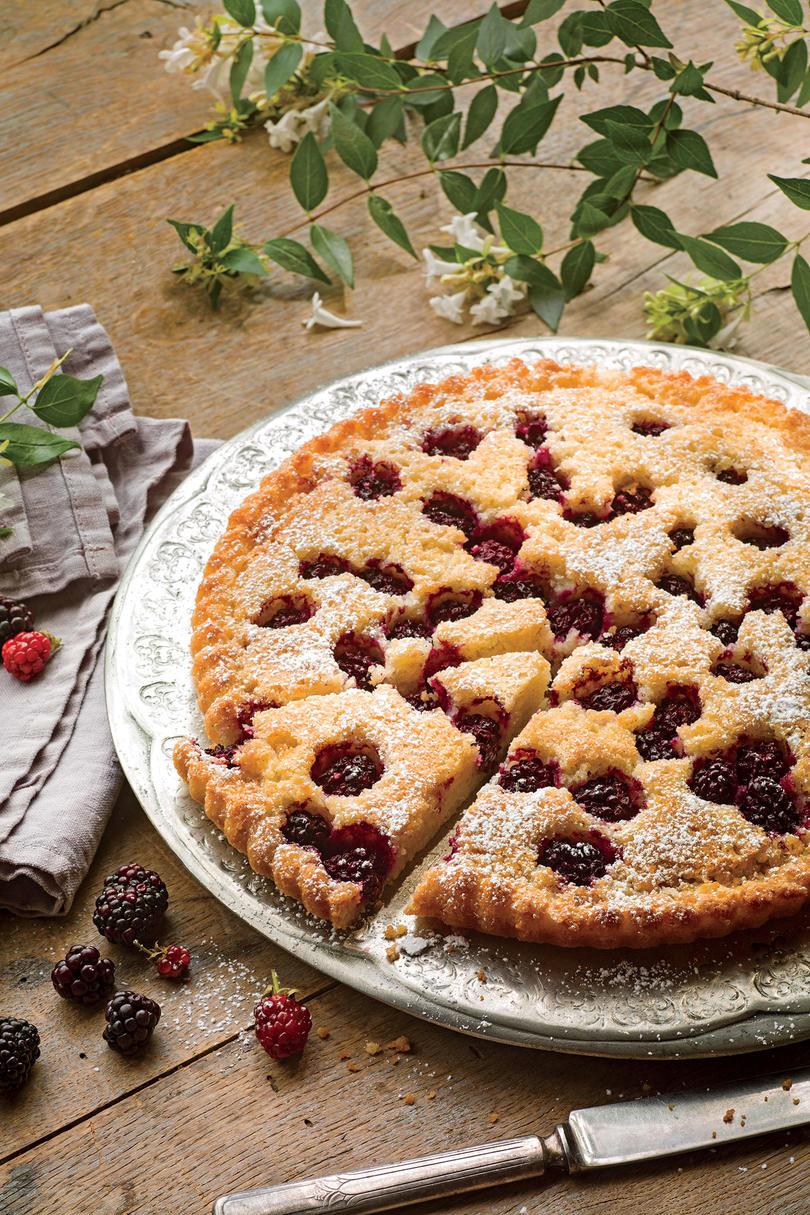 August- Blackberry, Browned Butter, and Almond Tart