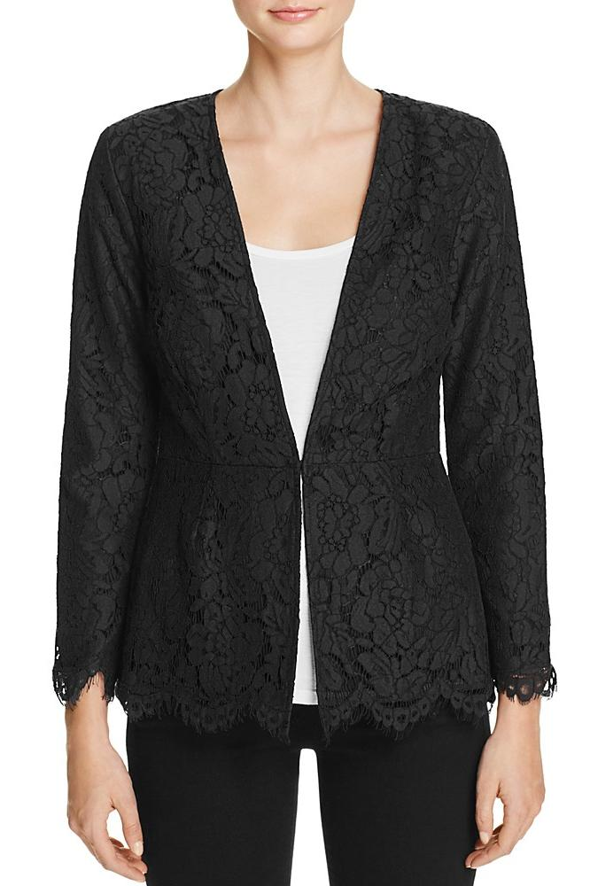 Cupcakes and Cashmere Tess Scalloped Lace Jacket