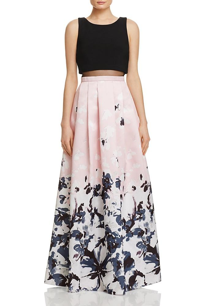 Bloomingdale's Printed Ball Gown