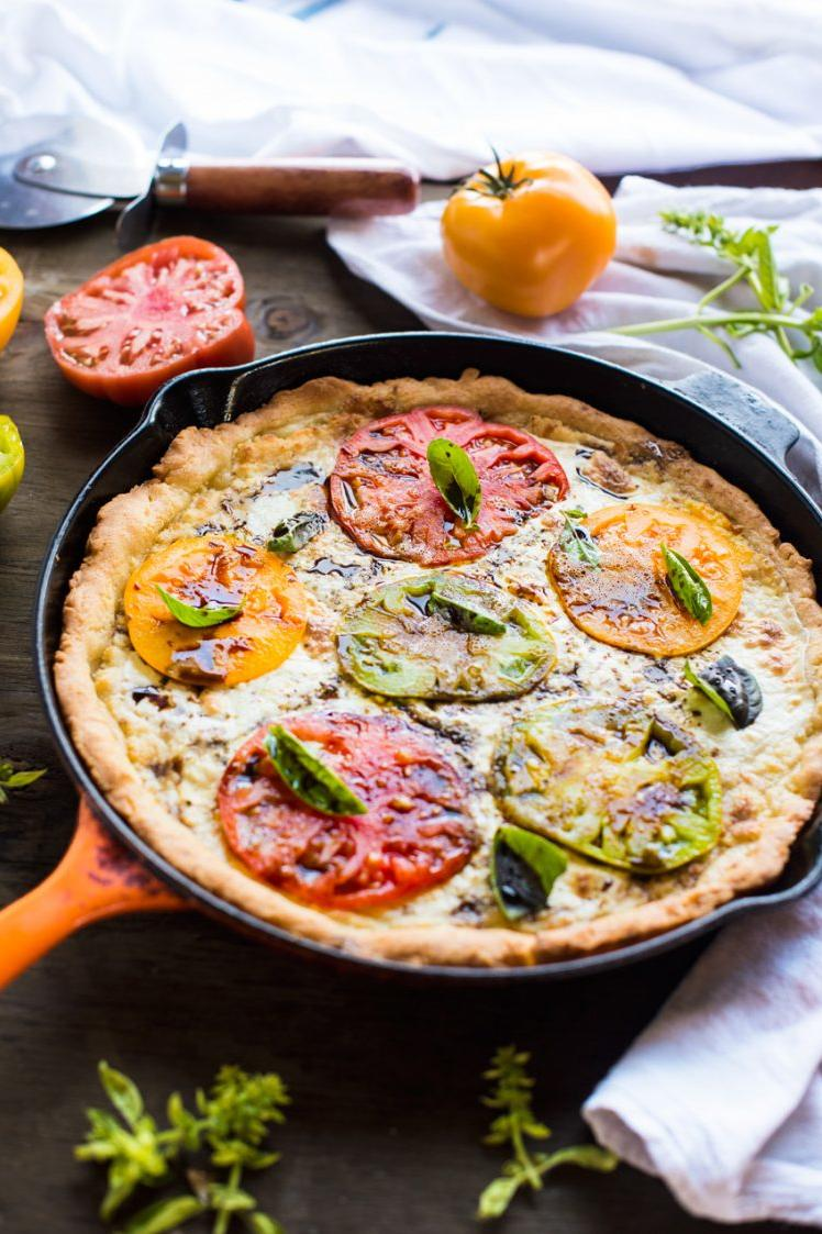 Brazilian Cheese Bread Skillet Pizza