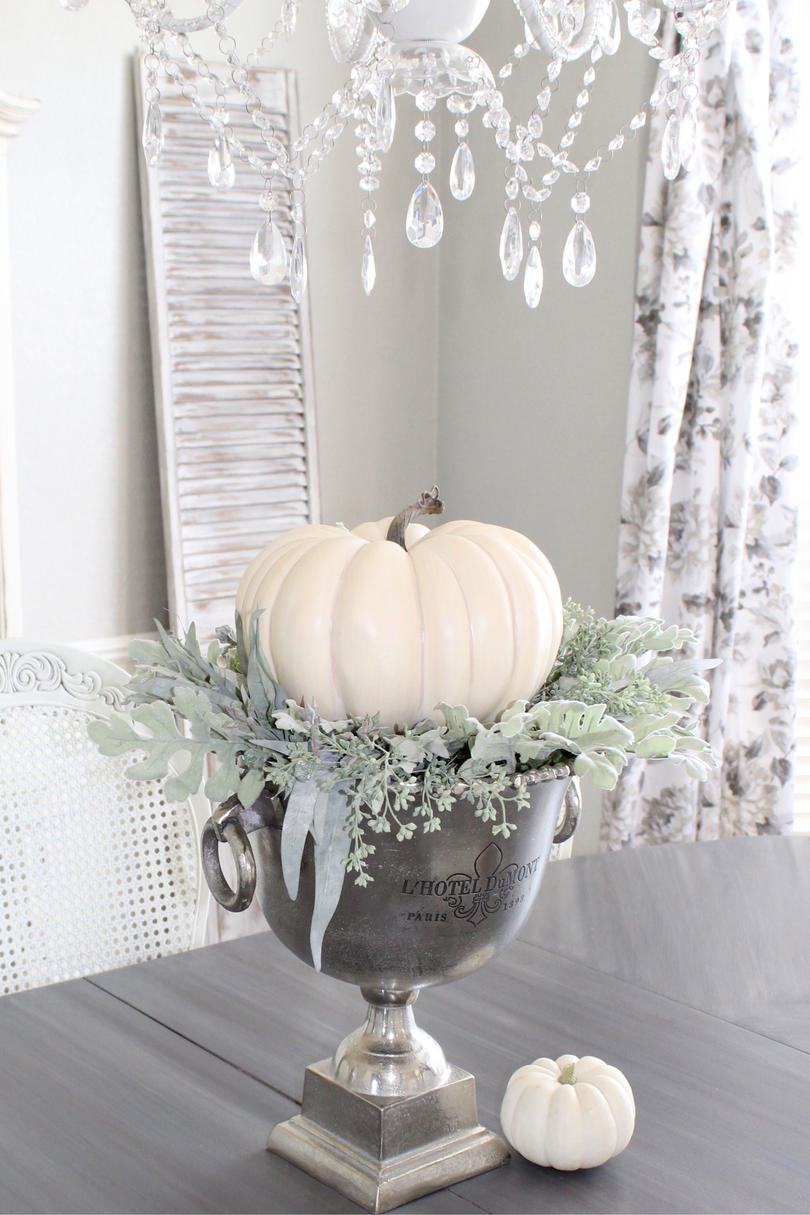 Bed of Leaves & Pumpkin Centerpiece