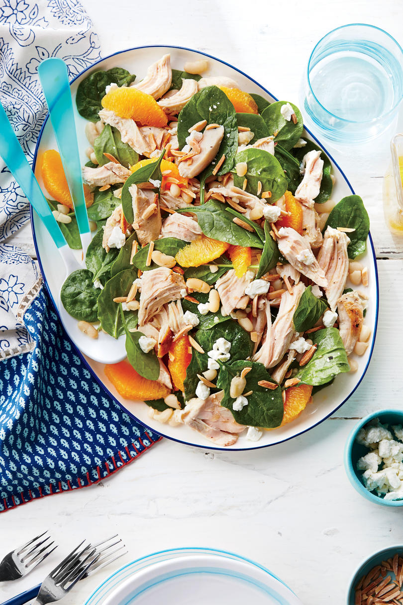 Chicken, White Bean, and Spinach Salad