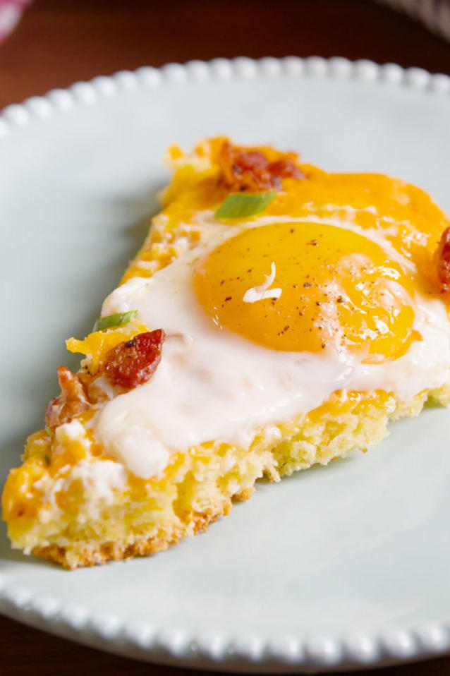 Cornbread Breakfast Skillet Pizza