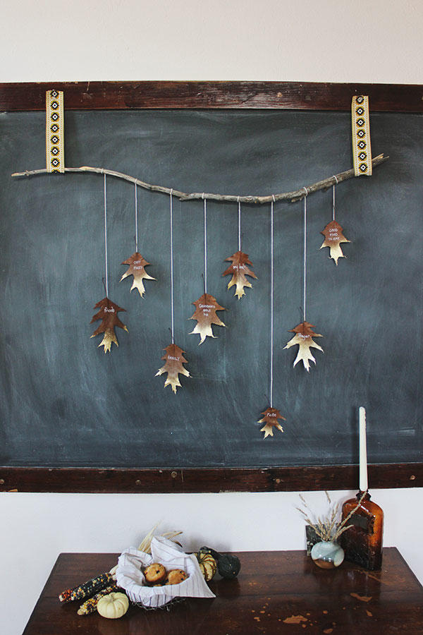 Gold-Dipped Leaf Garland