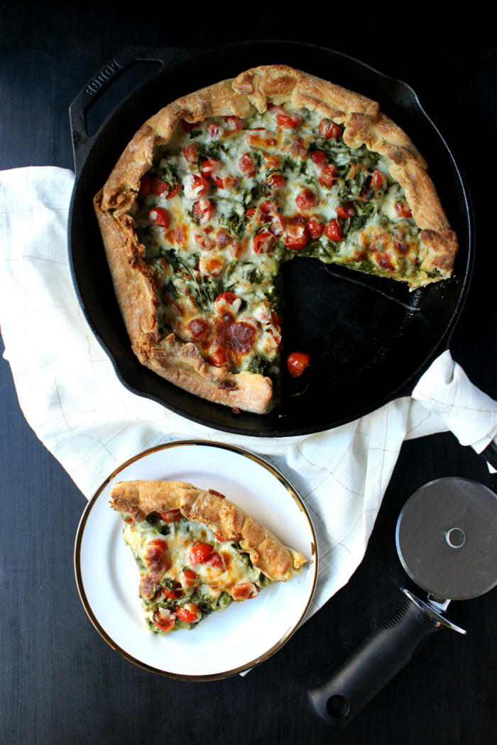 25 Skillet Pizzas Green Goddess Skillet Pizza
