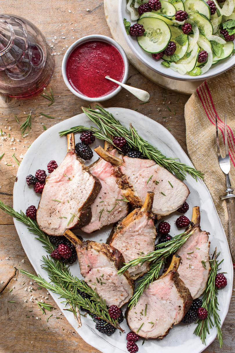 Grilled Pork Loin with Blackberry Glaze