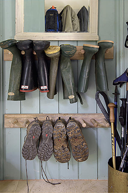 15 Mudroom Ideas We're Obsessed With Hang Boots and Shoes To Dry