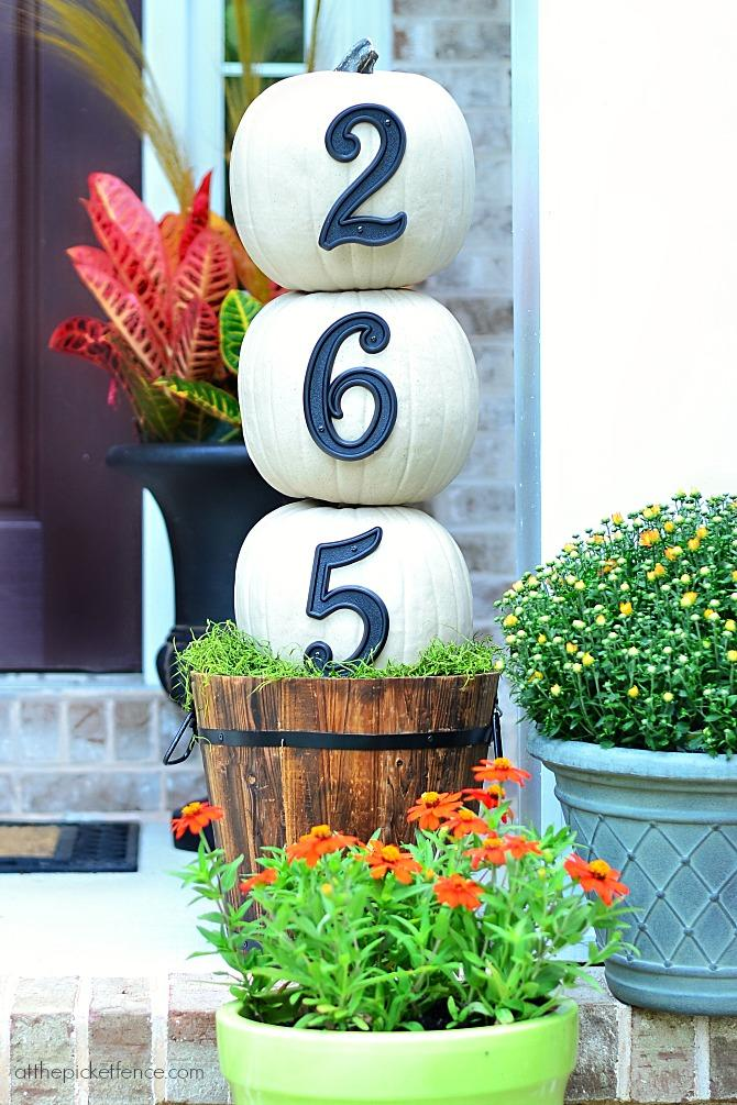 20 Incredible Ways to Decorate with Pumpkins This Fall Street Number Pumpkins
