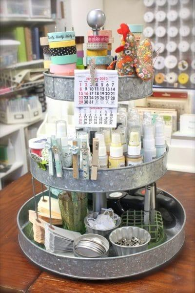 Lazy Susan Supplies Holder