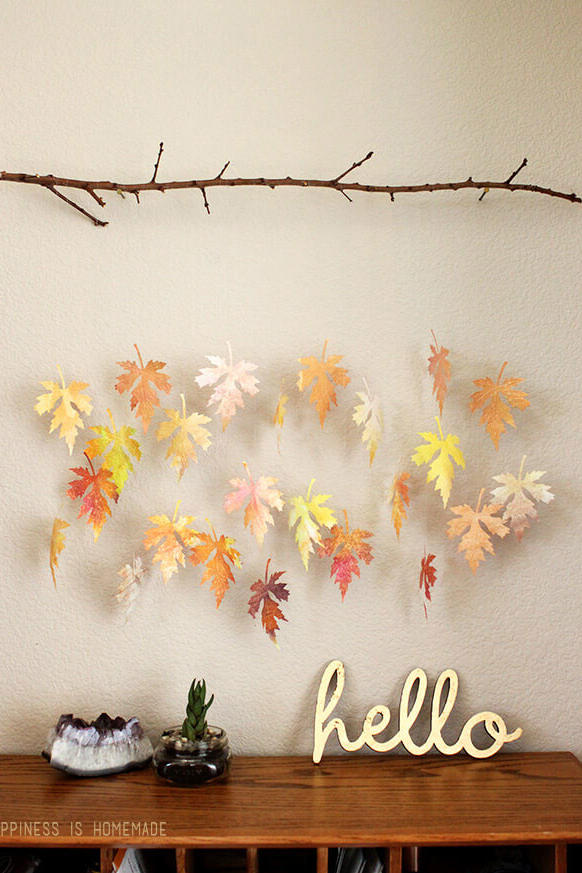 Watercolor Leaf & Branch Mobile