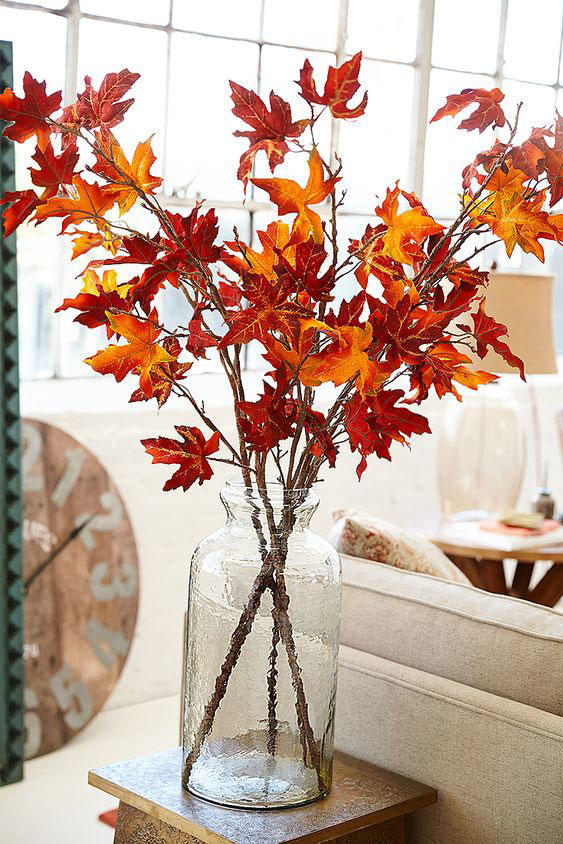 Autumn Leaves & Branches Vase