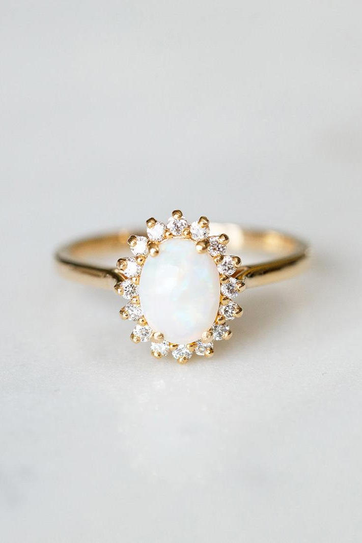 opal - Unique Wedding Rings For Him