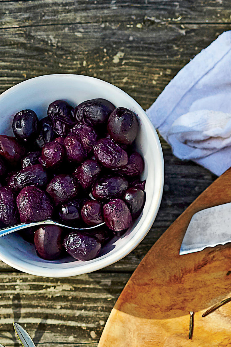 Stewed Grapes and Olives