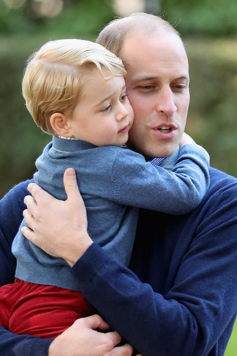 Our Prince Charming! 15 Adorable Photos of George Sweet Father Son Hug