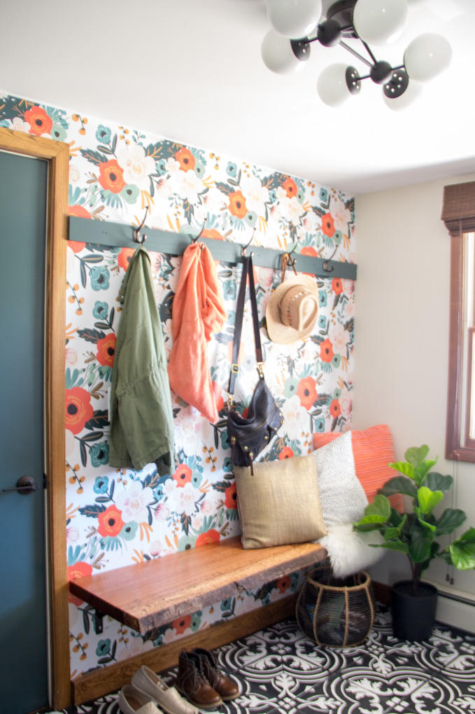 15 Mudroom Ideas We're Obsessed With Wallpaper It