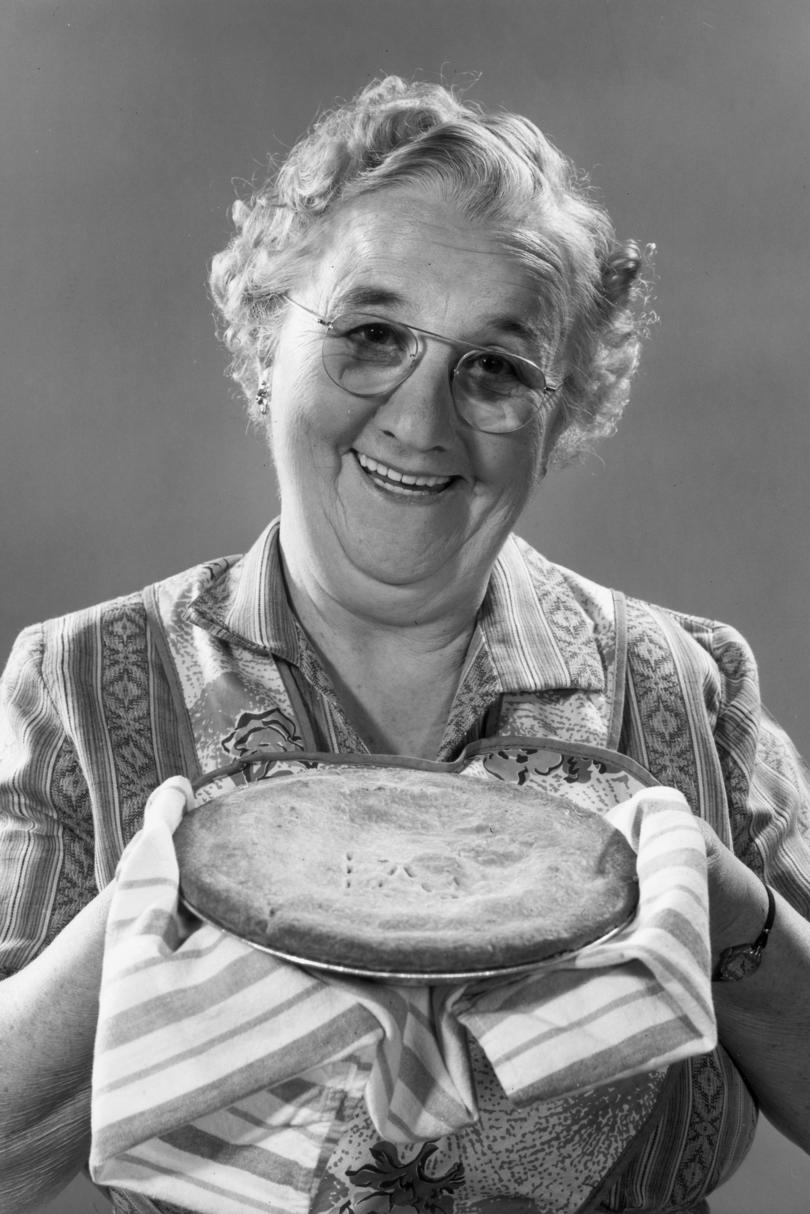 Woman Holding Apple Pie