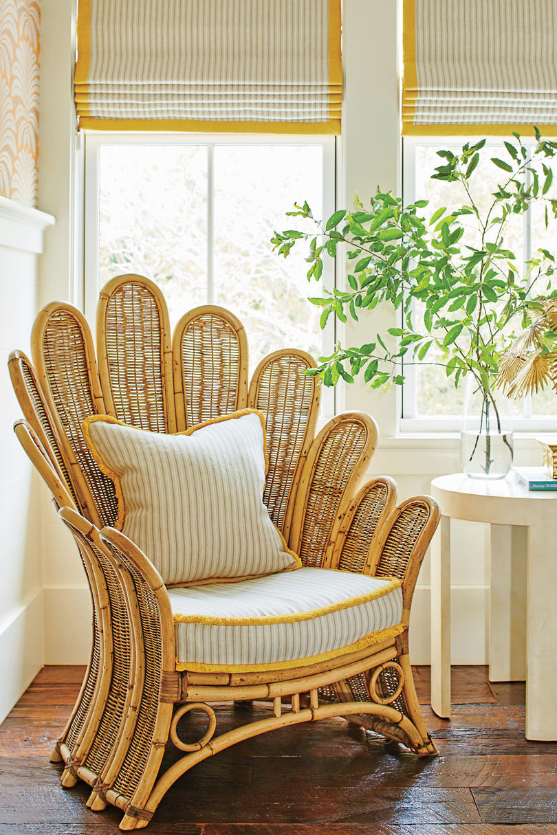 Yellow Bedroom Vintage Chair