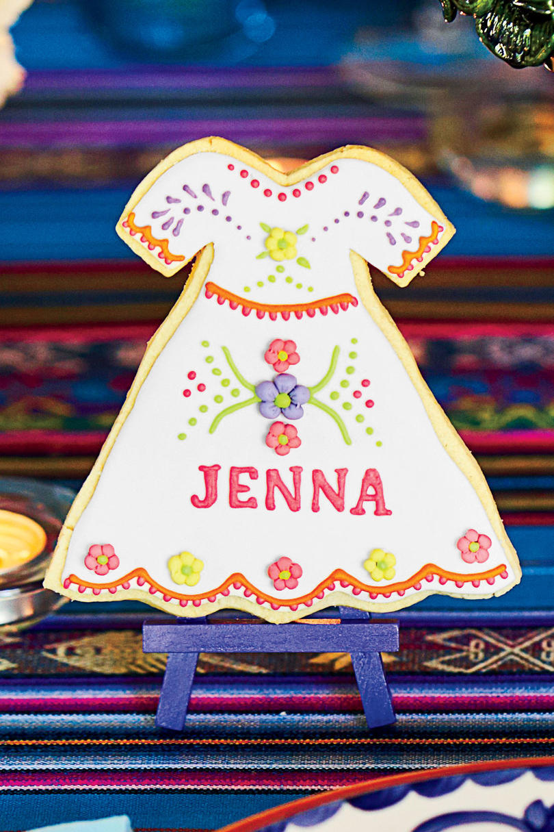 Fiesta Dress Cookie Place Cards and Favaors
