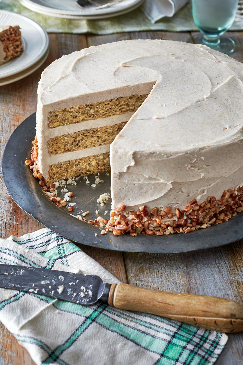 September- Butter Pecan Layer Cake with Browned Butter Frosting