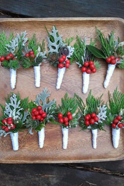 Merry Berry Boutonnieres