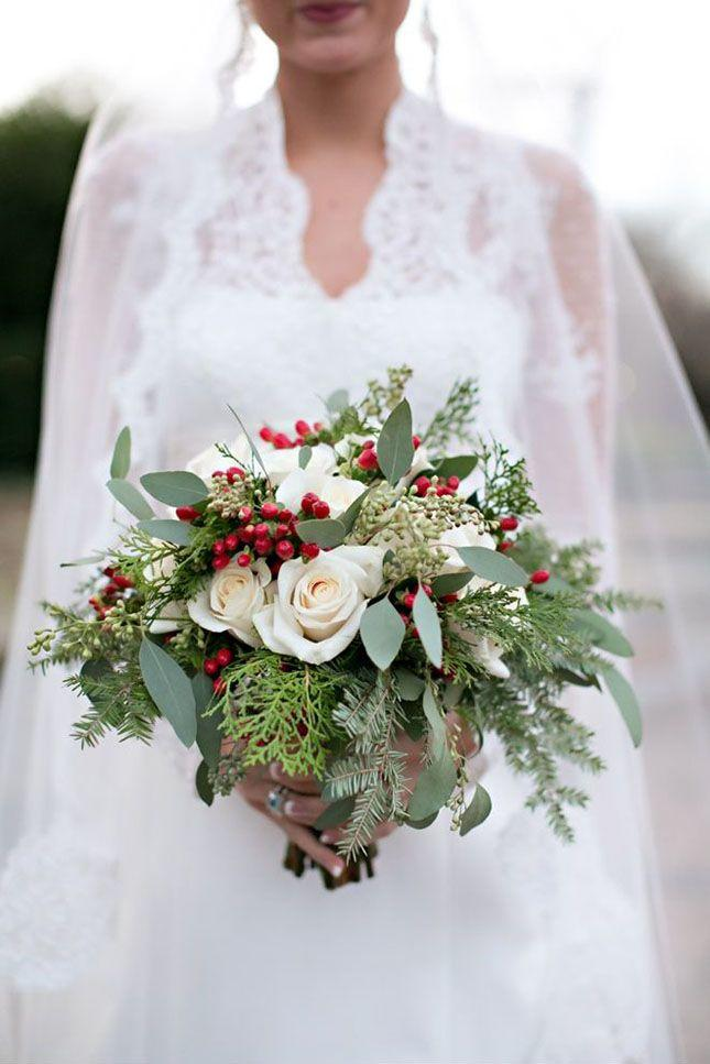 Merry and bright christmas wedding bouquets southern living christmas bridal bouquet junglespirit Gallery