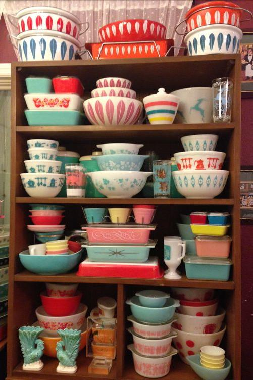 Colorful and Patterned Pyrex Dishes