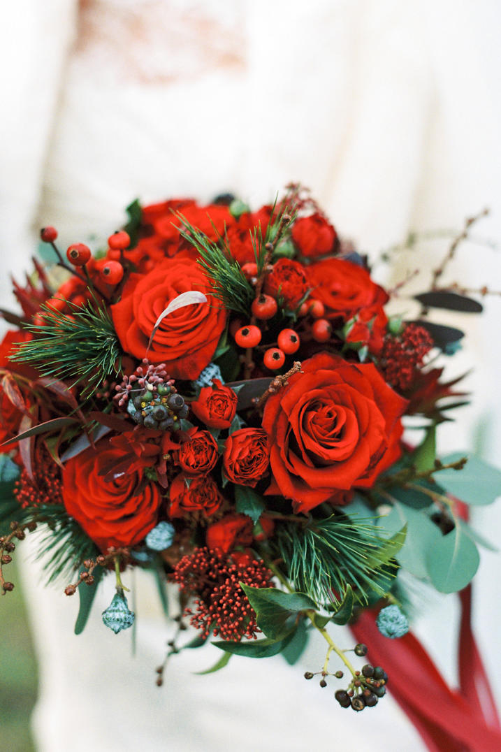 Merry And Bright Christmas Wedding Bouquets