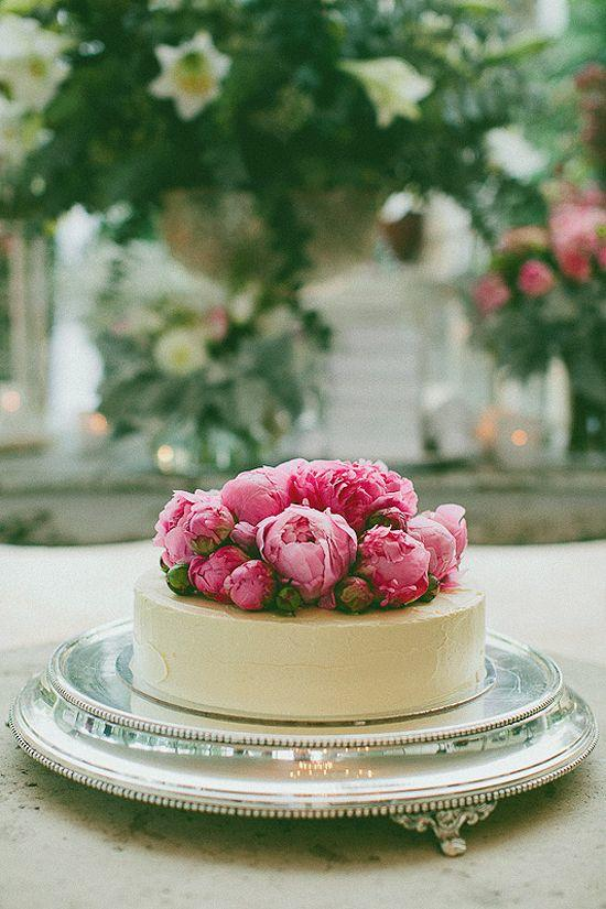 Peonies on The Bride's Cake