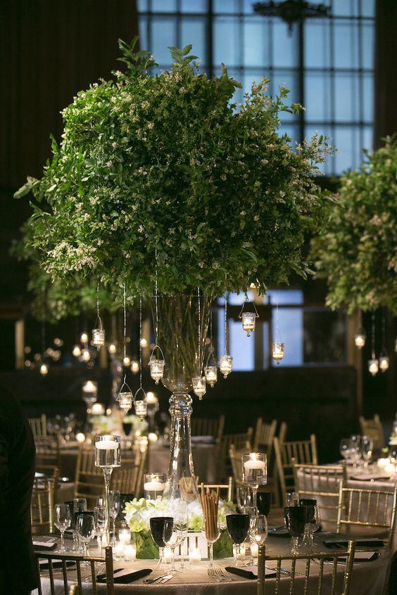 1708_ Beautiful Centerpieces Created With Candles Hang 'Em Up