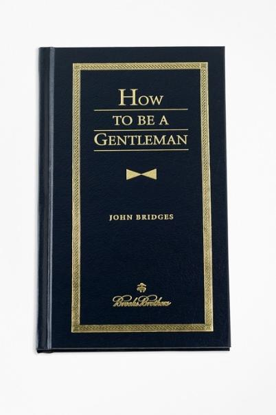 """""""How To Be A Gentleman"""" Book"""