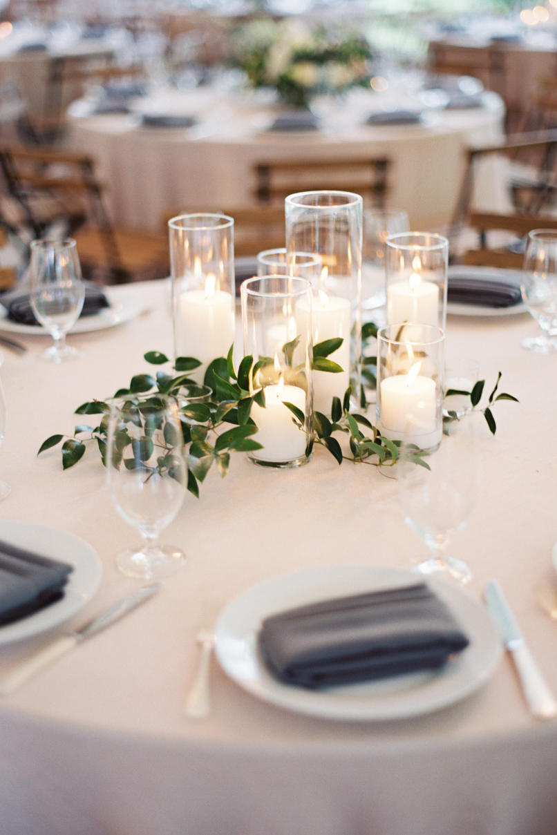 Beautiful centerpieces created with candles southern living