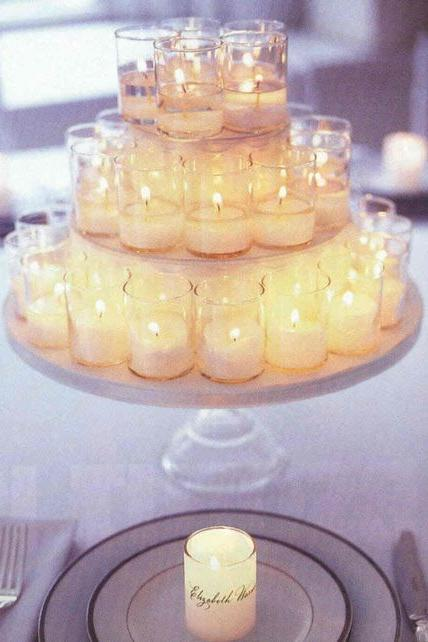 Tiered Candles