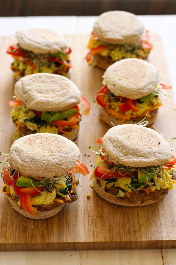 Turkey Sausage & Veggie Breakfast Sandwich
