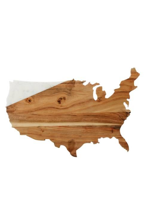 Nordstrom USA Marble & Wood Serving Board