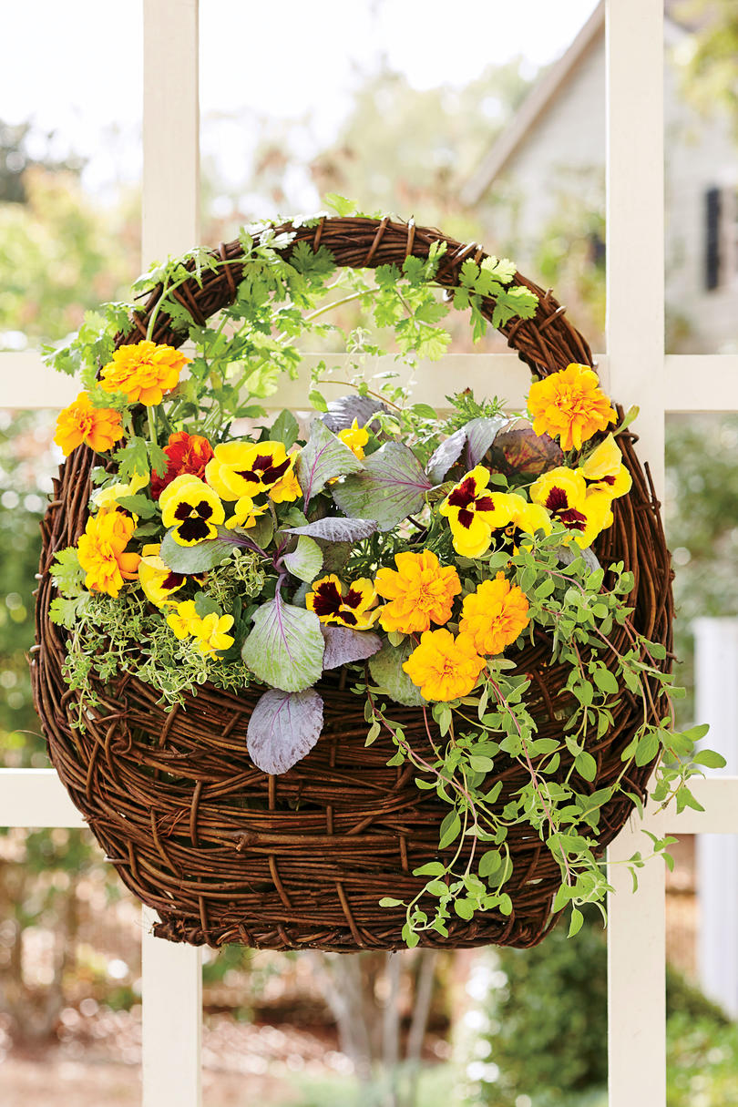 Hanging Garden Baskets - Southern Living