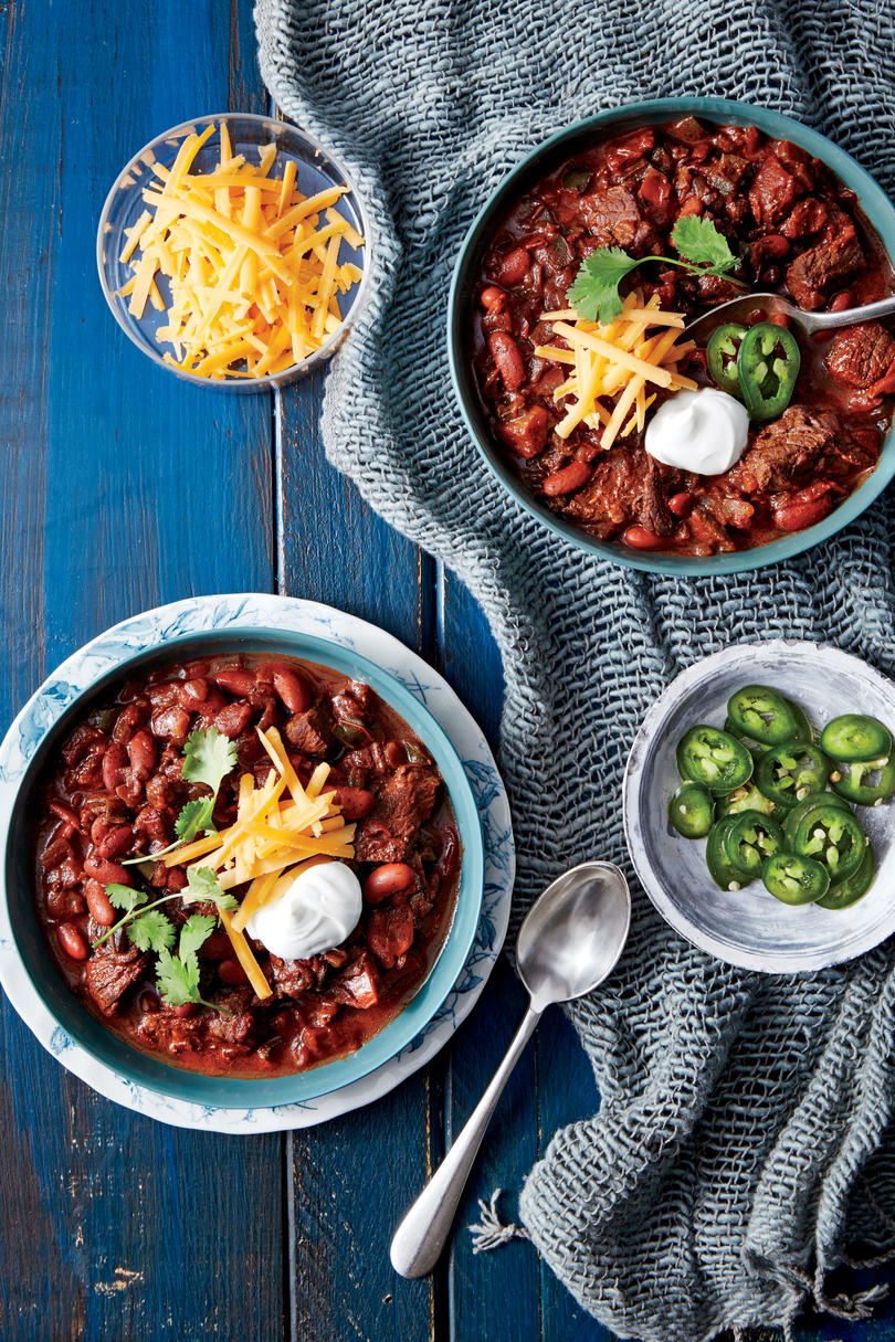 Pressure-Cooker Beef-and-Bean Chili Recipe