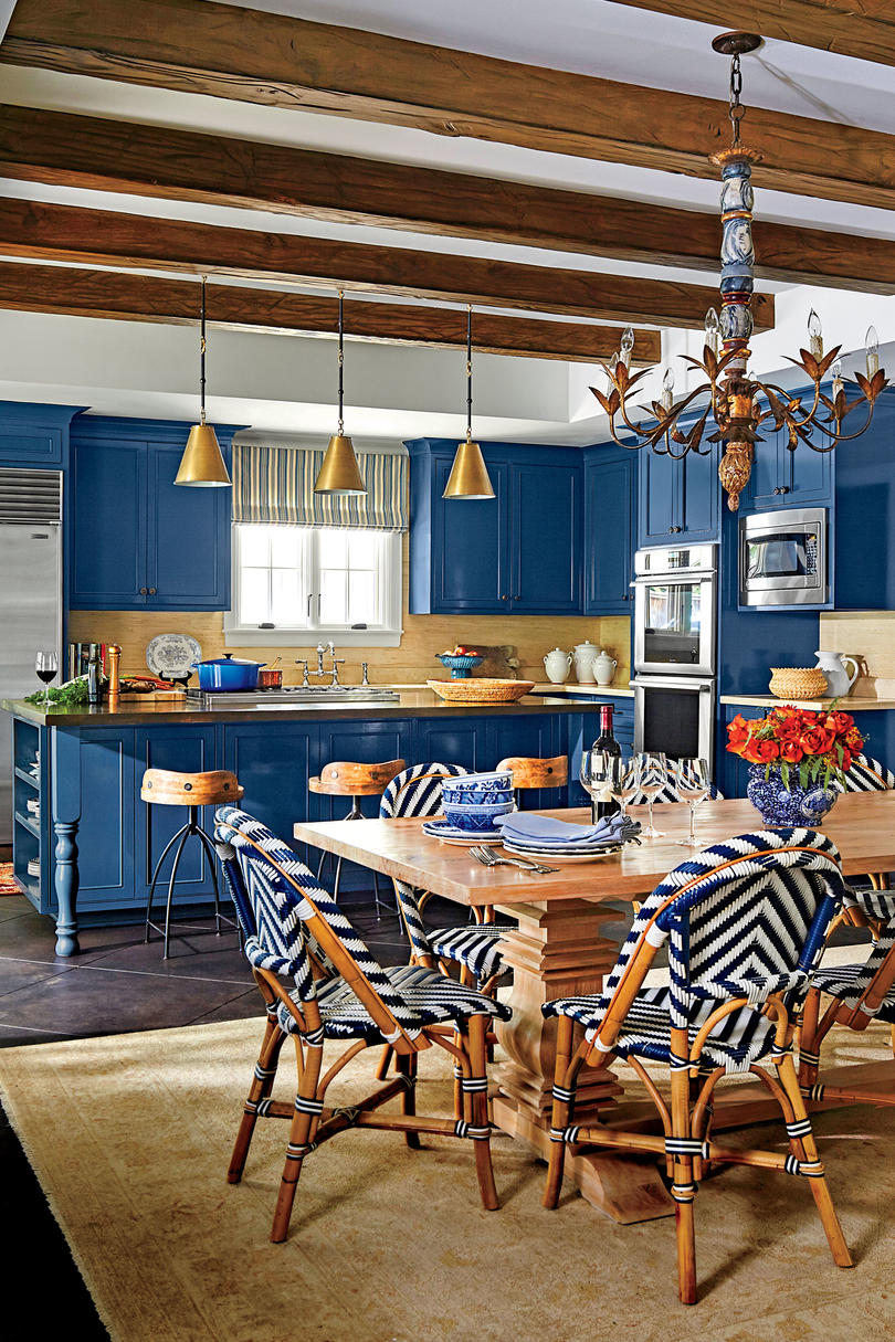 Herod Kitchen Blue Cabinets