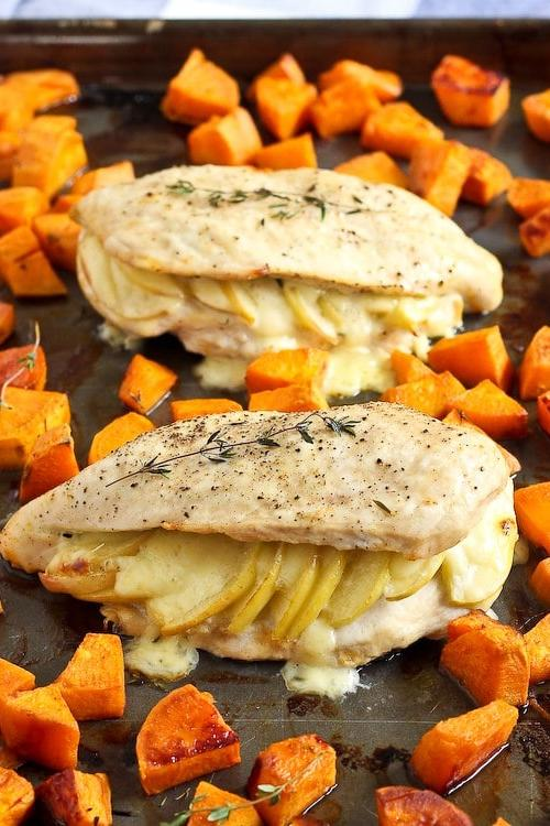 Apple Gouda Stuffed Chicken Breasts