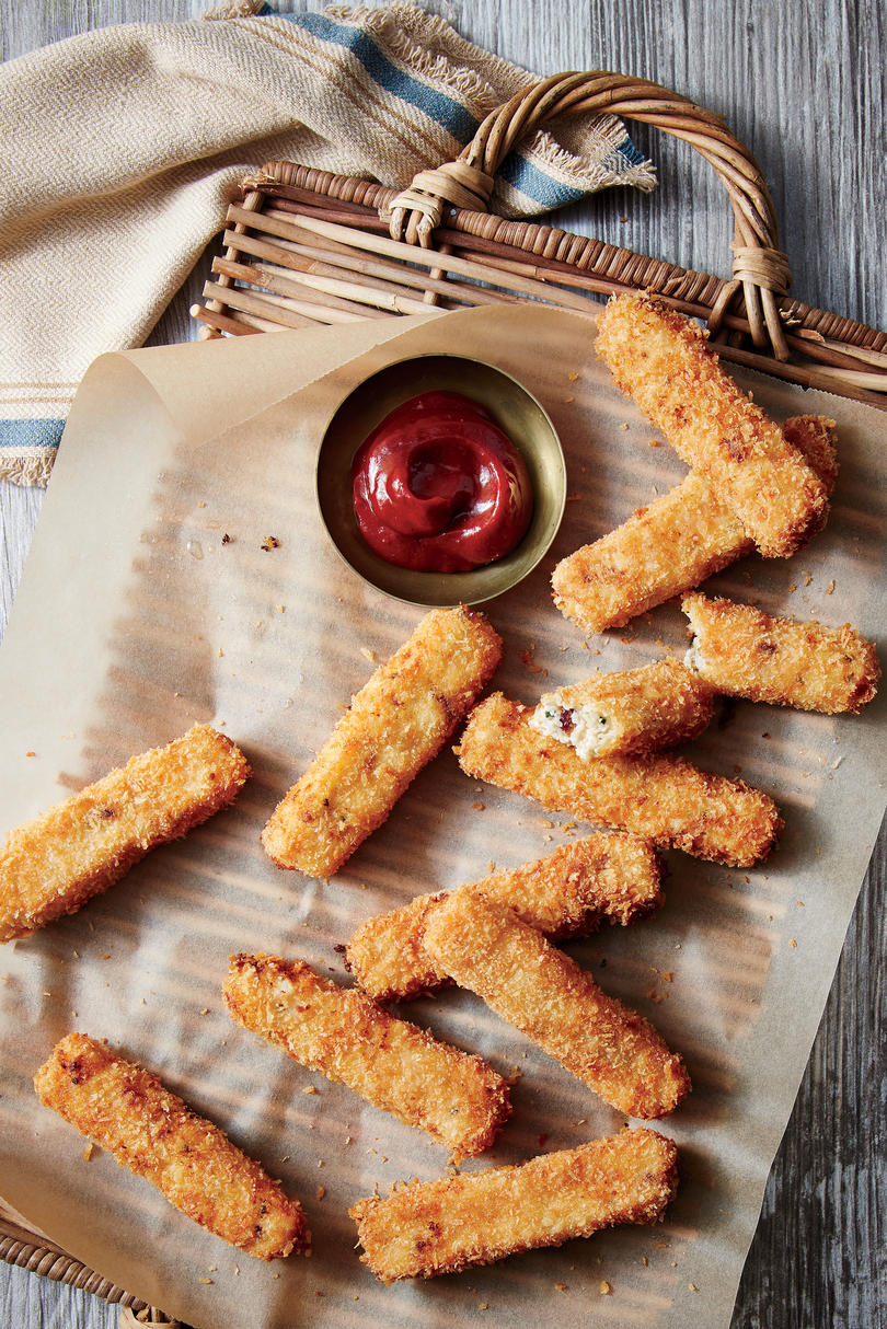 Bacon-and-Chive Grit Fries with Smoky Hot Ketchup