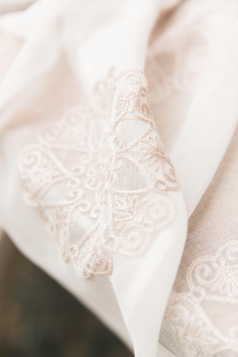 Delicate Fabrics with Bridal Embellishments