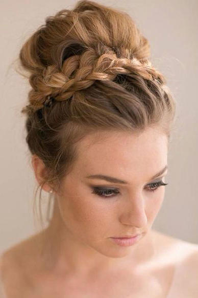 Gorgeous updos for bridesmaids southern living braided top knot junglespirit Image collections