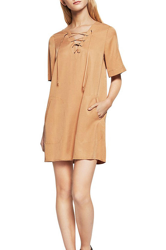 BCBGeneration Lace-Up Shift Dress
