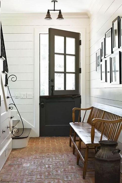 Cozy Brick Mudroom