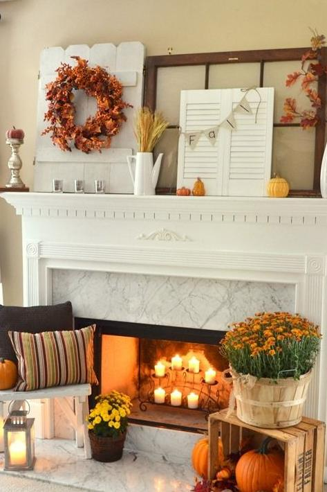 Create a Cozy Fall Fireplace